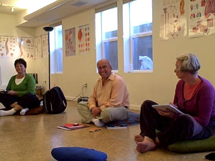 Meir teaching at the School for Self-Healing