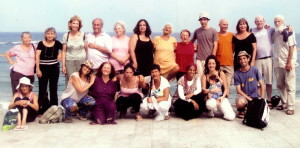 Dr. Schneider with Segment A students. Haifa, July 2010