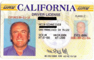 Meir's unrestricted California Driver License