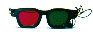 red & green glasses